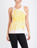 adidas by Stella McCartney Leo animal-print cotton-jersey top