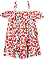 Milly Minis Eden Cherry-Print Coverup Dress, Size 8-14