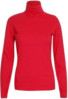 Hanger Hanger Women's Polo Turtle Neck Rib Long Sleeve Tee Top 4-6
