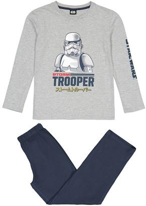 Star Wars Storm Trooper Print Pyjamas in Cotton Mix, 8-16 Years