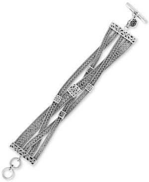 Lois Hill Woven-Look Toggle Bracelet in Sterling Silver