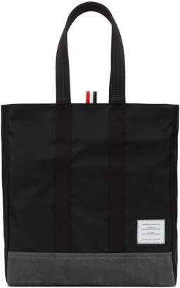 Thom Browne Black Unstructured Tote