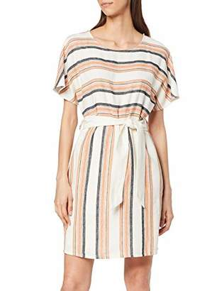 Yargıcı Womens 9YKEL7151X Dekolletiertes Round Collar Short Sleeve Dress - Pink