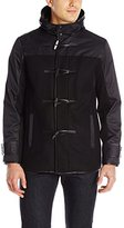 Calvin Klein Men's Wool Nylon Mixmedia Toggle Coat