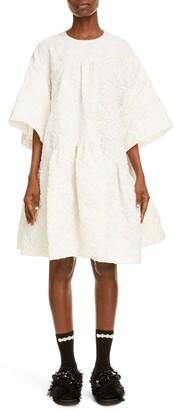 Simone Rocha Drop Waist Cloque Dress