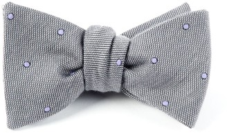 The Tie Bar Wool Dots Charcoal Bow Tie