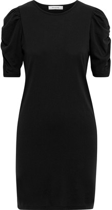 Frame Ruched Cotton-jersey Mini Dress