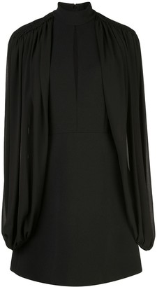 Giamba Cape-Sleeve Cut-Out Dress