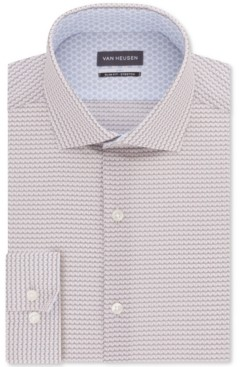Van Heusen Men's Air+ Slim-Fit Non-Iron Performance Stretch Geo-Print Dress Shirt