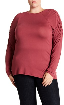14th & Union Ruched Raglan Sleeve T-Shirt (Plus Size)