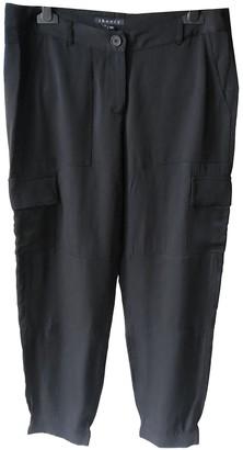 Theory Black Silk Trousers