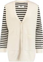 MM6 MAISON MARGIELA Striped ribbed-wool cardigan
