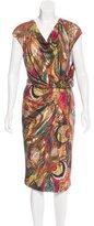 Max Mara Abstract Print Cowl Neck Dress