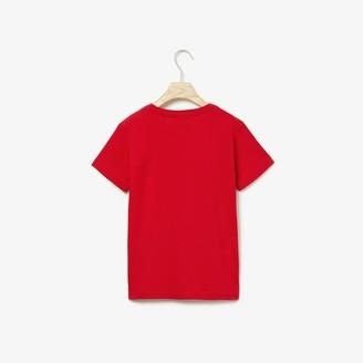 Lacoste Boys Cotton Jersey V-neck T-shirt