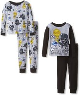 Star Wars Little Boys 4pc & Gray Snug Fit Pajama Pant Set