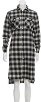 R 13 Plaid Long Sleeve Tunic