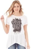 Only Womens Whatever Print T-Shirt Cloud Dancer