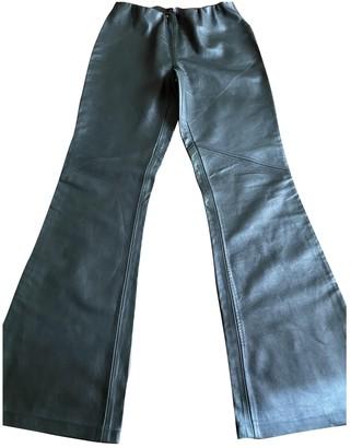 Non Signã© / Unsigned Non SignA / Unsigned Green Leather Trousers