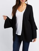 Charlotte Russe Shaker Stitch Open Front Cardigan