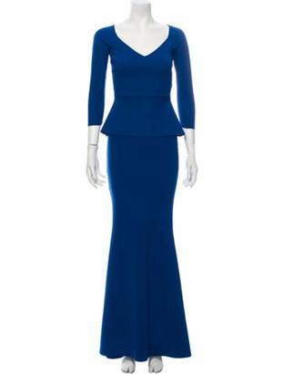 Chiara Boni V-Neck Long Dress w/ Tags Blue