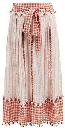 Dodo Bar Or Rodica Gingham Cotton Skirt - Tan Multi