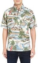 Reyn Spooner Hawaiian Christmas Pullover Sport Shirt