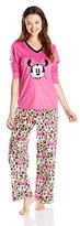 Disney Women's Minnie Mouse V-Neck Set