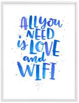 Pottery Barn Teen Love and Wifi, Wall Art by Minted®, 18 x 24, White