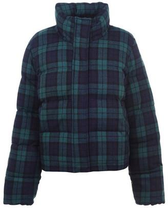 Jack Wills Rowanfield Blackwatch Wool Puffer Jacket