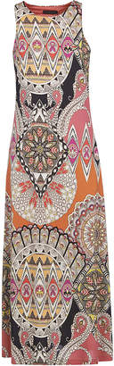 Etro Abstract Print Sleeveless Long Dress