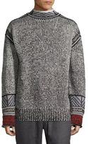 3.1 Phillip Lim Fair Isle Jacquard Mockneck Sweater