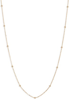 Bony Levy 14K Gold Ball Bead Chain Necklace