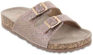 Mia Deisey Glitter Buckle Slide Sandal
