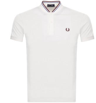 Fred Perry Bomber Collar Polo T Shirt White