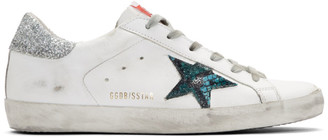Golden Goose White Snake Superstar Sneakers