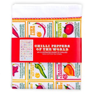 Stuart Gardiner Design Chilli Peppers Of The World Tea Towel
