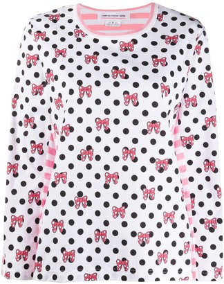 COMME DES GARÇONS GIRL x Disney dotted long-sleeved T-shirt