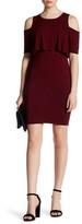 Soprano Cold Shoulder Ruffle Dress