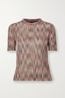Missoni Crochet-knit Cotton-blend Top - Pink