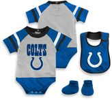 NFL Indianapolis Colts 3-Piece Creeper Bib and Bootie Set
