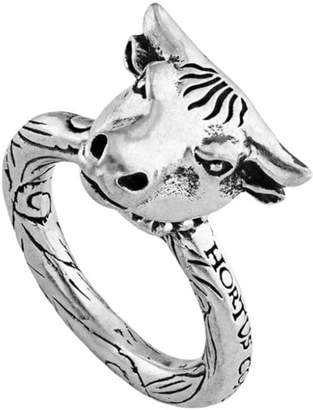 Gucci Anger Forest bull's head ring in silver