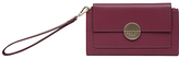 Radley Turner Street Leather Flapover Wristlet Purse, Berry