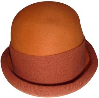 Hermes Orange Wool Hats