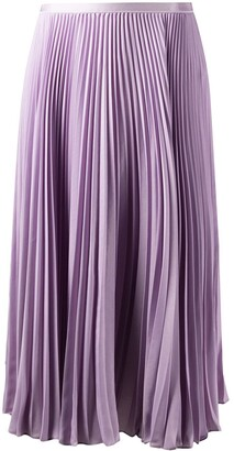 Polo Ralph Lauren Pleated Knee-Length Skirt