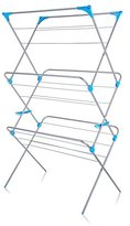 Minky 3 Tier Extra Wide Indoor Airer, 20m of drying space, Silver