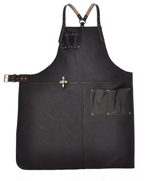 Eva D. Handcrafted Leather Apron Dark Brown