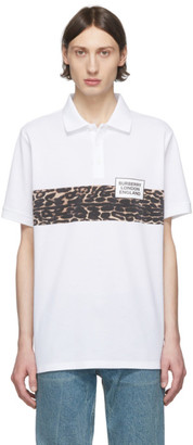 Burberry White Somerville Printed Polo