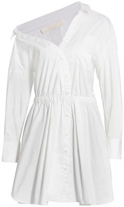 By Any Other Name Falling Off-The-Shoulder Mini Shirtdress