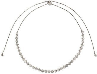 As 29 18k black gold diamond Indiana flower choker necklace