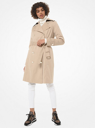 Michael Kors Cotton-Blend Trench Coat